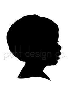 Custom Digital Portrait Silhouette  Free Shipping by PetitDesignCo, $15.00