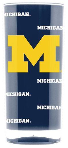 Michigan Wolverines Tumbler - Square Insulated (16oz)