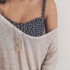 of the shoulder floral necklace