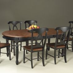 Rich, deep brown paired with classic black adds elegance and strength to the breakfast room. -Susan Serra, @susanserraCKD, http://bit.ly/wX6rp9