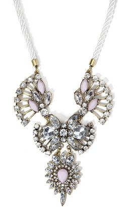 FOREVER 21 Rhinestone and Faux Gem Statement Necklace
