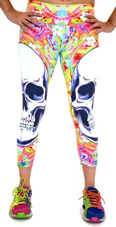 These would make me want to work out lol. Big Skulls Capri by Shape UP Activewear at San Diego Fit.com