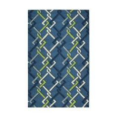 Home Decorators Collection Interlock Ocean 8 ft. x 10 ft. Area Rug  on  Daily Rug Deals