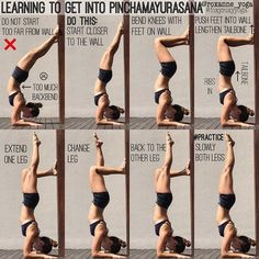 """3,536 Likes, 50 Comments - Roxanne Gan (@roxanne_yoga) on Instagram: """"Handstand against the wall The wall is a great friend in helping you deal with the fear of falling,…"""""""