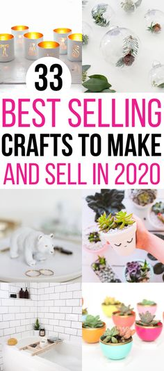 Selling your crafts can be very profitable. If only you knew what to make that people would actually pay money for! I have an ultimate list of 30+ hot craft ideas to sell to help you out! This list will be sure to help you find that something you have been looking for that you can DIY for a profit! Diy Projects You Can Sell, Diy Crafts To Sell On Etsy, Craft Ideas To Sell Handmade, Diy Money Making Crafts, Crafts To Make And Sell, Diy Craft Projects, How To Make, Homemade Crafts, Easy Diy Crafts