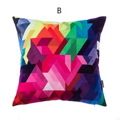 Abstract Geometric throw pillow pop art style cushions 18 in