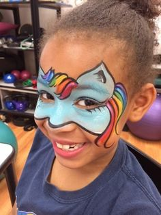 My Little Pony face painting Face Painting Designs, Body Painting, My Little Pony Unicorn, My Little Pony Birthday Party, Unicorn Face, Painted Pony, Animal Faces, Monster High Dolls, Pictures To Paint