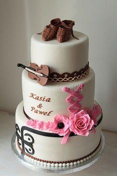 Polish Highlander Wedding Cake   by dulcerella