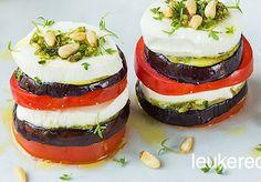 mozzarella met aubergine torentje