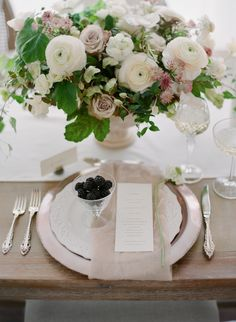 The prettiest white on white wedding table decor: Springtime Wedding Inspiration for the Classic Bride