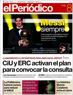 Titulares y Portada del 8 de Enero de 2013 del Diario El Periodico ¿Que te parecio este día?