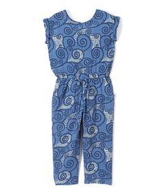 Blue Swirl Romper - Toddler & Girls