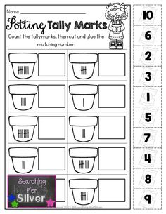 Potting Tally Marks and other FUN printables for Spring!