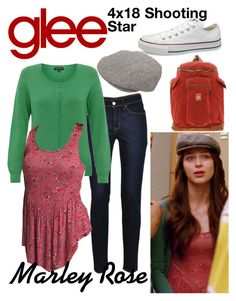 """Marley Rose (Glee) : 4x18"" by aure26 ❤ liked on Polyvore featuring Levi's, Brixton and glee"
