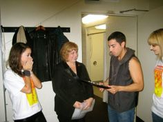 receiving an award backstage before my show!