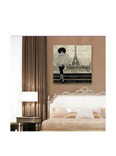"Oliver Gal ""A Good Idea ""Giclée On Canvas (Multi)"