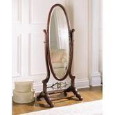 Found it at Wayfair - Heirloom Cherry Cheval Mirror with Brass Accents