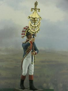 The 1st Grenadier regiment. Old Guard. The chapeau chinos of the orchestra. Year 1810