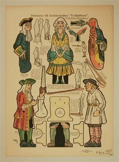 "Dockorna till dockkomedien ""Trollpillerna"". In: Allers Familj-Journal N:r 42. 11 okt. 1927"