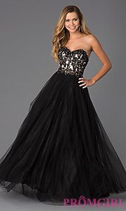 Buy Strapless Sweetheart Tulle Ball Gown at PromGirl