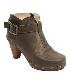 Olive Owl Cone Leather Boot by Sanita #zulily #zulilyfinds