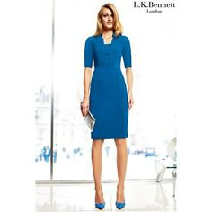 L k bennett detroit blue dress looks