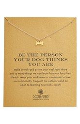 Dogeared 'Reminder - Be The Person Your Dog Thinks You Are' Necklace