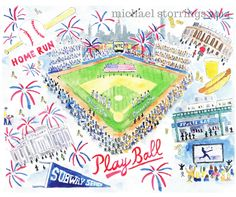 MLB opening day. Baseball in New York City by Michael Storrings.