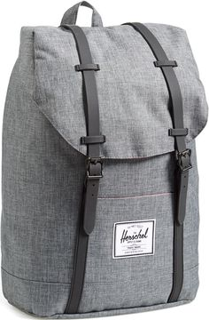 •Website: http://www.cuteandstylishbags.com/portfolio/herschel-supply-co-charcoal-crosshatch-retreat-backpack/ •Bag: Herschel Supply Co. Charcoal Crosshatch 'Retreat' Backpack (FOR MEN)