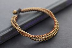 Earth Tone 3 Strand Braided Anklet