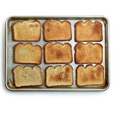"Know your oven's quirks:  ""Arrange bread slices to cover the middle oven rack. Bake at 350° for a few minutes, and see which slices get singed―their location marks your oven's hot spot(s)"""