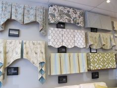 Photo of U-Fab - Charlottesville, VA, United States. A variety of window treatment valances & cornice boards.