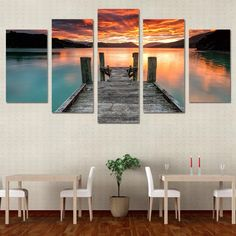 HD Printed Lake sunset sky Painting Canvas Print room decor print poster picture canvas Free shipping/ny-4195 #walldecor #interiordesigner #homedecor #wallartprints #artdecor #artprint #canvasphotoprints #wallartdecor #wallpainting