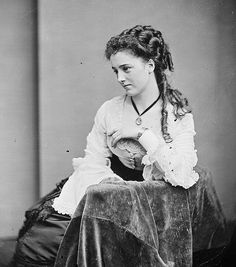 WWomen of the Civil War Circa 1863 Titled Lady #1 by Matthew Brady Source Flickr Commons via US Natl Archives. Beautiful hair.