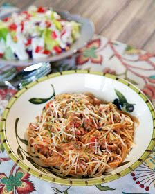 Plain Chicken: One-Pot Spaghetti {No Boil} I'll never make it the old way now!