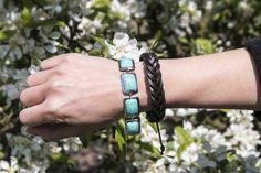 Náramek tyrkenit  #sperkymoda.cz#sperky #jewellery #jewelry #fashionjewellery #bizu #bracelet #czech #czechgirl #náramky #polodrahokam