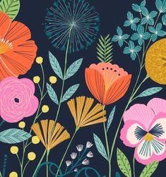 Flower details #florals #blooms #flowerdrawings #springtime #nature Vintage Drawing, Color Pencil Art, Pattern Illustration, Floral Illustrations, Surface Pattern Design, Modern Prints, Flower Prints, Decoration, Printing On Fabric