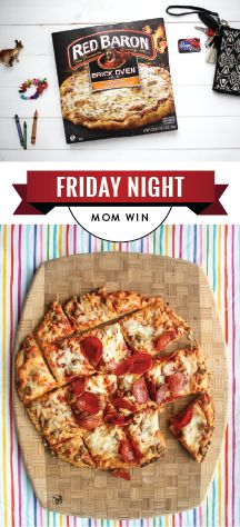 For a Friday night mom win, serve up a dinner idea you know the whole family will love. Red Baron pizzas can help with just that! Whether you're simply celebrating the weekend or a kid's birthday party, you're sure to find that this simple inspiration is oh-so useful. So gather the family and pick up the ingredients you need at your local Kroger store!