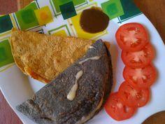 Quesadillas con tortilla de verdad. Mexican food/Comida Mexicana