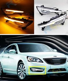 137.00$  Watch now - http://alicrk.worldwells.pw/go.php?t=32788282718 - LED DRL For KIA Cadenza 2011 2012 K7 DRL Daytime Running Light With Turn Signal Light 137.00$