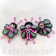Polymer Clay Buggy bug bugs.... by KatersAcres