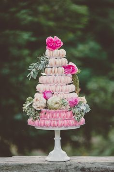 Macaron Tower Cake By The Sugar Studio
