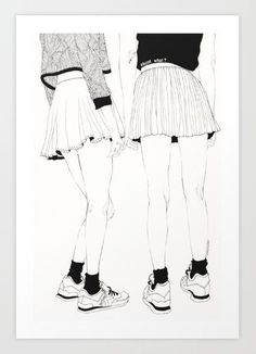 We Don't Talk About That print by Kaethe Butcher