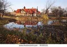 Humboldt Park in Chicago during fall. - stock photo