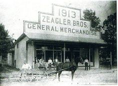 Historical photo of a general merchandise store in 1913.