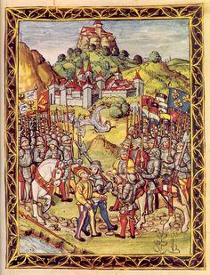 Ludovic Sforza, fait prisonnier par les Suisses puis les Français.- 2° guerre d'Italie: Louis XII envoie alors La Trémoille et Georges d'Amboise reconquérir le duché. Ludovic le More n'ayant pas soldé ses mercenaires, ces derniers refusent de combattre les français et leur livrent même leur chef à la bataille de Novare le 10 avril 1500. Ludovic le More est emmené en captivité en France où il meurt en 1508. Louis XII nomme Charles II d'Amboise de Chaumont gouverneur de Milan.