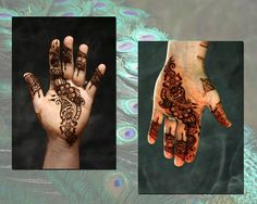 Paste on, paste off, kind of Arabic style.  Crimson Art Henna