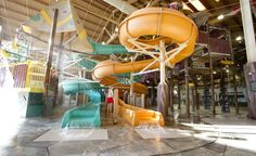 Totem Towers   These twin three-story slides offer the fastest (not to mention, funfilled) escape route out of the Fort Mackenzie tree house. #greatwolflodge #waterslides