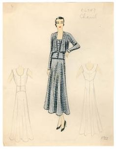 Bergdorf Goodman sketches : Chanel 1933