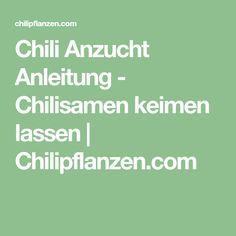 Chili Anzucht Anleitung - Chilisamen keimen lassen | Chilipflanzen.com